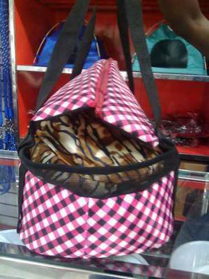 Bolso Y Porta Mascota En Lona De Varios Colores Al Mayor