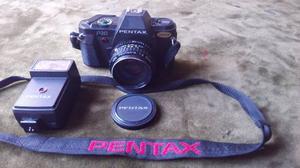 Cámara Clásica Pentax P30 Flash Correa Tapalente Rollo