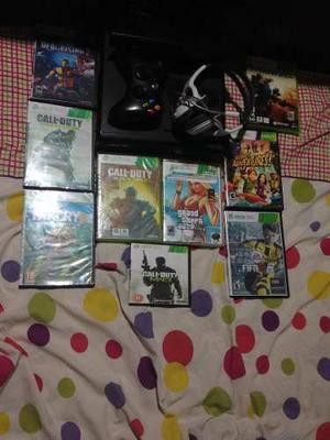 Xbox 360 Más De 10 Juegos Top, Kinect Y Audiculares - Remat
