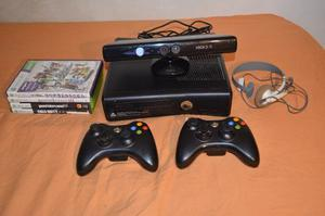 Xbox 360 Slim 4gb Kinect 2 Controles 4 Juegos Posot Class