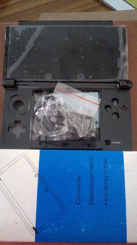 Carcasa Nintendo 3ds Reemplazo Color Negro/gris 100% Nueva