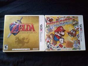 Juegos Nintendo 3ds Zelda Ocarina /paper Mario Sticker Star!