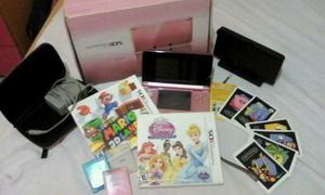 Nintendo Ds 3d Doble Cámara Con Wifi Rosado En Perfecto Est