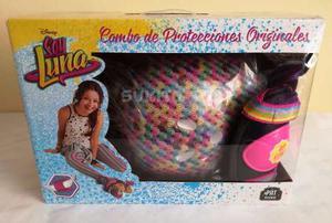 Set De Proteccion Soy Luna Rodillera, Codera Y Casco Nuevo