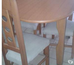juego de comedor, mesa ovalada 4 puestos