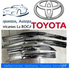 Deflectores O Viseras De Ventana De Toyota Corolla Cromados