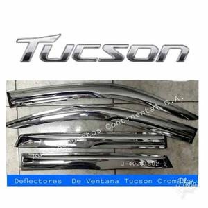 Deflectores O Viseras De Ventana Hyundai Tucson Cromado