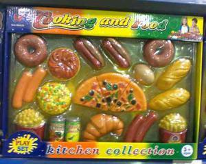 Set D 30 Piezas De Comida De Juguete Para Niños