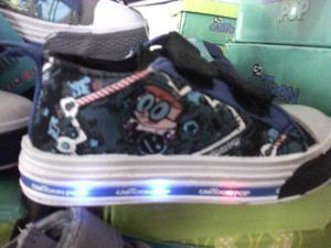 Zapatos Cartoon Pop Niños Con Luces Solo 23