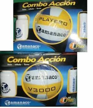 Balón De Voleibol Mas Cooler Mas Inflafor Marca Tamanaco
