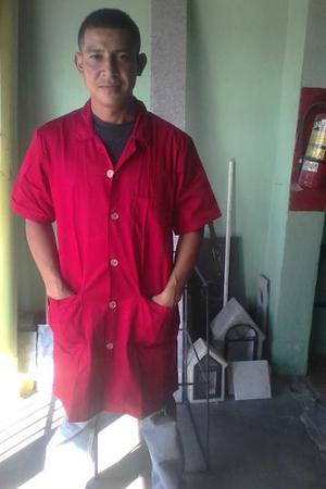 Bata Roja Y Verdes Para Mecanico Obreros Etc