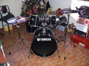 Bateria Yamaha Black Con Todos Sus Accesorios