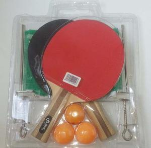 Juego De Raquetas De Ping Pong Como Nuevas Mas Malla Mas...!