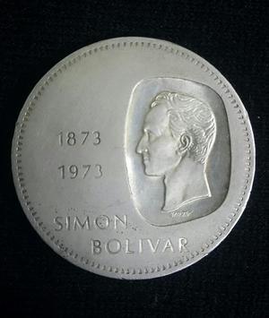 Moneda Plata Doblon de Plata Venezolano