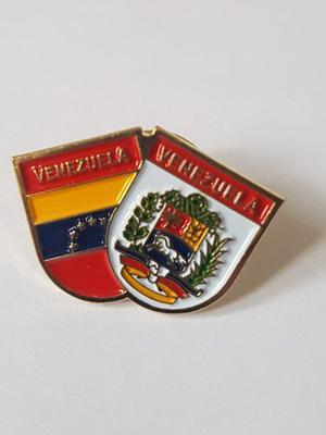 Pin Bandera Y Escudo De Venezuela