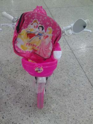 Bicicleta Rin 12 Princesa Con Bolso De Princesa Para Niña