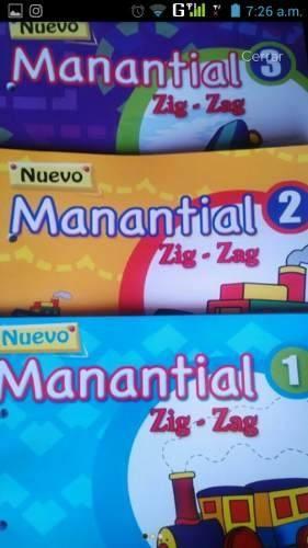 Libro Manantial Zig Zag 1, 2 Y 3 Ediciones Edinter
