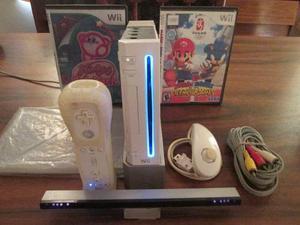 Nintendo Wii Chipeado Con Controles, Cable Original Y Juegos