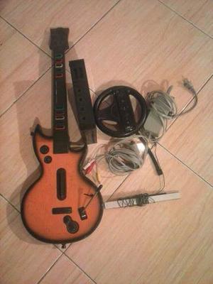 Wii Con Guitarra Y Volante