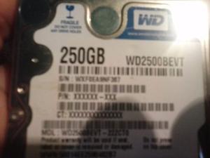 Disco Duro 250gb Wester Digital Usado En Buen Estado!