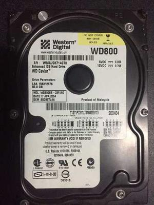 Disco Duro 3.5 Ide 80 Gb Marca Western Digital