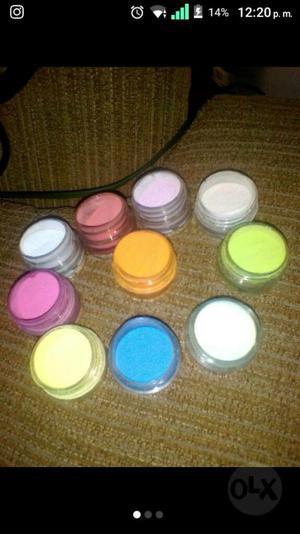 Polvos Acrilicos de Colores