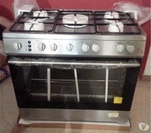 Cocina haier cromada 5 hornillas nueva posot class for Coste cocina nueva