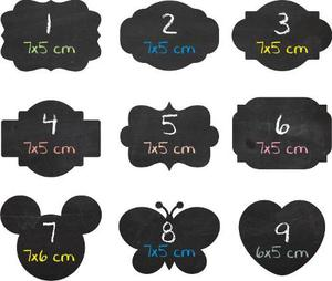 Etiquetas Stickers Pizarra Props Candy Bar 7x5 Cm