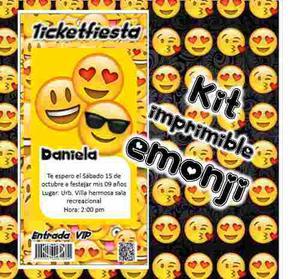 Kit Imprimible Emojis Candy Bar Emoticones