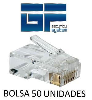 Conector Rj45 Bolsa De 50 Unidades Cat5e, Somos Tienda!
