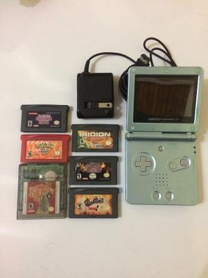 Game Boy Advance Sp Con 6 Juegos