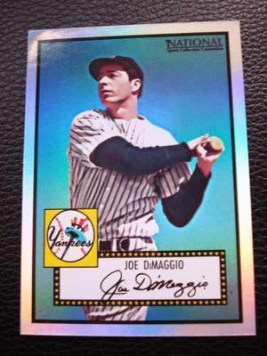 Joe Dimaggio Topps  Promocard Especial Refractor #408