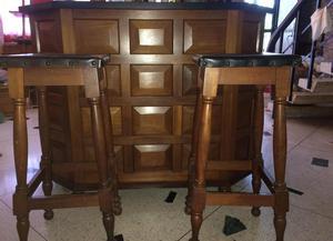 Venta sillas y bancos altos para cocinas posot class for Bancos de bar de madera