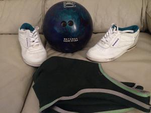Bola Pelota De Bowling, Zapatos Y Bolso