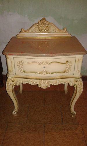 Dormitorio Luis Xv Individual Vintage Juego De Cuarto Cama