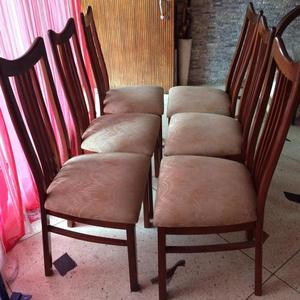 Se vende juego de comedor de 6 sillas posot class for Juego de sillas de comedor