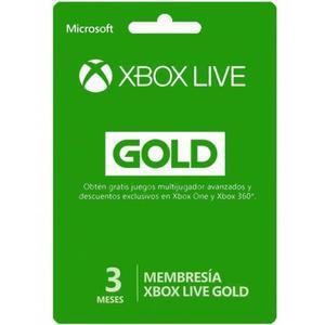 Membresias De Xbox Live Gold 3 Meses