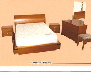 Remato Cama Dormitorio Mesas Noche Peinadora Wengue Queen