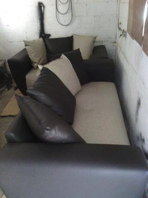 Muebles De 2 Y 3 Puestos Semicuero Posot Class # Muebles En Semicuero