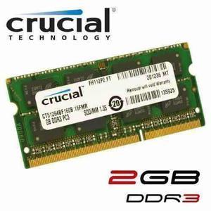 Memoria Ram 2gb Ddr3-pc3 Para Laptop Y Mini Laptop Crucial