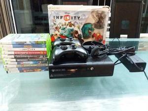 Xbox 360 Elite Con 2 Controles + 9 Juegos + Disney Infinity