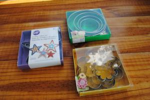3 Juegos de cortadores con figuras tortas galletas gelatinas