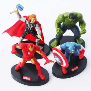 Set De 4 Figuras Hulk Capitan America Thor Iron Man Set