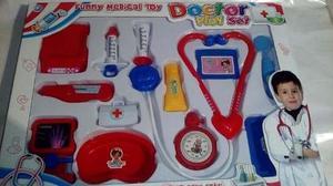 Set De Doctor Para Niños 13 Piezas. Juguete Para Niños