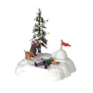 Accesorio Lemax Niños Jugando En La Nieve