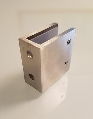 Clip Pisa Vidrio 100% Acero Inoxidable 50x50x25mm Nuevos