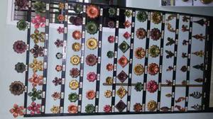 Hojas Y Flores En Hierro Forjado Para Figuras Y Rejas