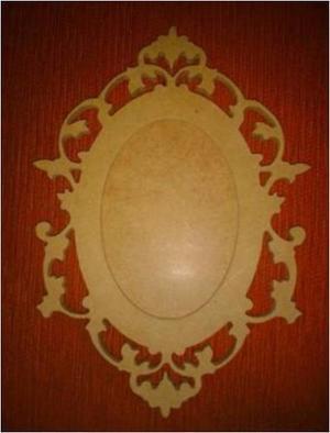 Portarretrato O Marco De Espejo Decorativo En Mdf Crudo