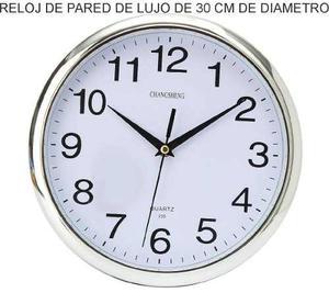 Reloj De Pared De Lujo Cocina Regalo Empresa Logo Dorado Pla