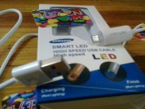 Cables Led Usb Micro Usb Samsung Datos Cargar